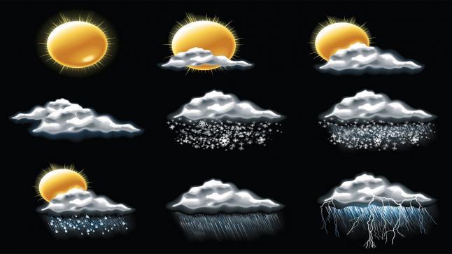 الإنذار المبكر غبار وعوالق ترابية على عدة مناطق وأمطار رعدية