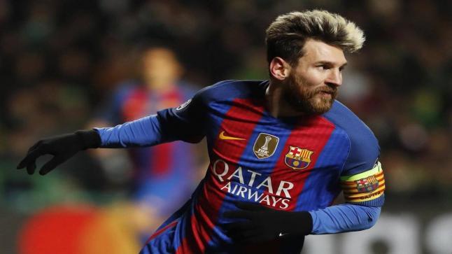 جماهير برشلونة تحتفل بالرقم 500 لميسي على طريقتها الخاصة