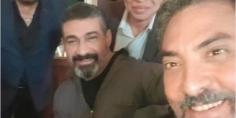 """سيلفي فتحي عبد الوهاب وياسر جلال من تصوير مسلسل """"لمس أكتاف"""""""