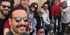 أشرف ذكي ونهال عنبر من داخل انتخابات نقابة المهن التمثيلية