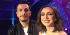 رسالة خاصة من أنغام وزوجها أحمد إبراهيم في أول ظهور تليفزيوني لهما مع نيشان